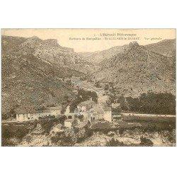 carte postale ancienne 34 SAINT-GUILHEM-LE-DESERT. Vue Village 1930