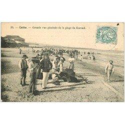 carte postale ancienne 34 SETE CETTE. Douanier Policier Plage du Kursaal 1906