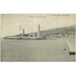 carte postale ancienne 34 SETE CETTE. Entrée du Port. Timbre absent