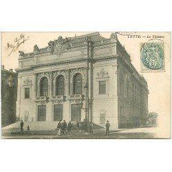 carte postale ancienne 34 SETE CETTE. Théâtre 1907