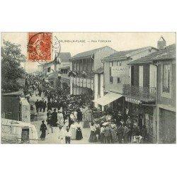 carte postale ancienne 34 VALRAS-LA-PLAGE. Tabac Bazar rue Française 1908 vente de Cartes Postales aussi...