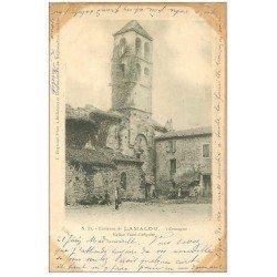 carte postale ancienne 34 VILLEMAGNE. Eglise Saint-Grégoire 1903