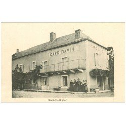 carte postale ancienne 46 BEAUREGARD. Café David
