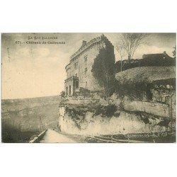 carte postale ancienne 46 CABRERETS. Le Château 1910