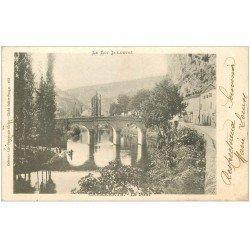carte postale ancienne 46 CABRERETS. Le Pont 1903