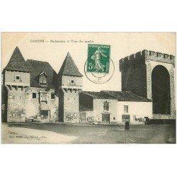 carte postale ancienne 46 CAHORS. Barbacanne et Tour des Pendus 1911