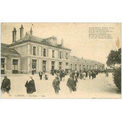 carte postale ancienne 46 CAHORS. La Gare 1912