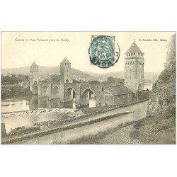 carte postale ancienne 46 CAHORS. Le Pont Valentré 1904