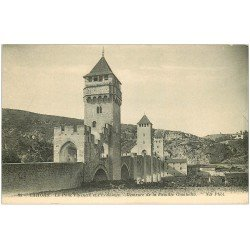 carte postale ancienne 46 CAHORS. Le Pont Valentré et Ermitage