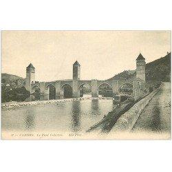 carte postale ancienne 46 CAHORS. Le Pont Valentré n°17