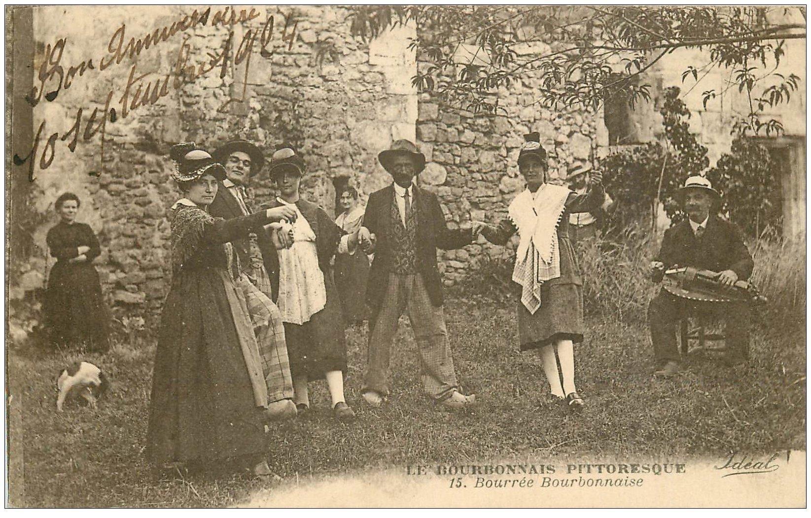 carte postale ancienne 03 BOURBONNAIS. La Bourrée 1924