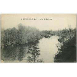 carte postale ancienne 46 CARENNAC. L'Ile de Calypso