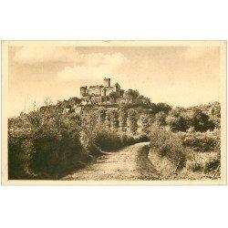 carte postale ancienne 46 CASTELNAU-BRETENOUX. Château 1944