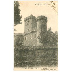 carte postale ancienne 46 CASTELNAU-BRETENOUX. Château Donjon 1904