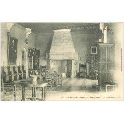carte postale ancienne 46 CASTELNAU-BRETENOUX. Château Grande Salle
