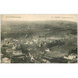 carte postale ancienne 46 FIGEAC. Quartier de la Gare 1926