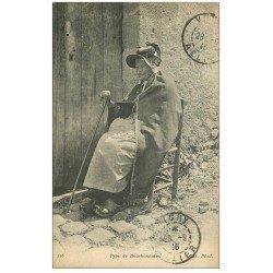 carte postale ancienne 03 BOURBONNAIS. Type de Bourbonnaise 1916 canne et Coiffe