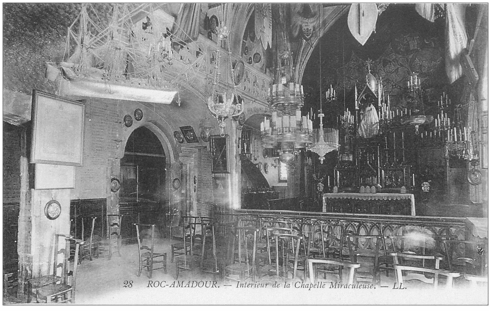 carte postale ancienne 46 ROCAMADOUR. Chapelle Miraculeuse