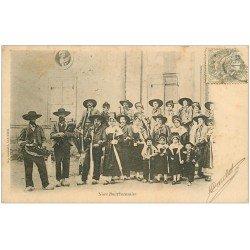 carte postale ancienne 03 BOURBONNAIS. Une Noce vers 1900