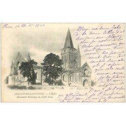 carte postale ancienne 17 AULNAY-DE-SAINTONGE 1902. L'Eglise
