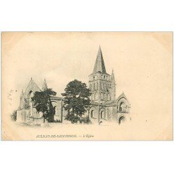 carte postale ancienne 17 AULNAY-DE-SAINTONGE. L'Eglise 1907