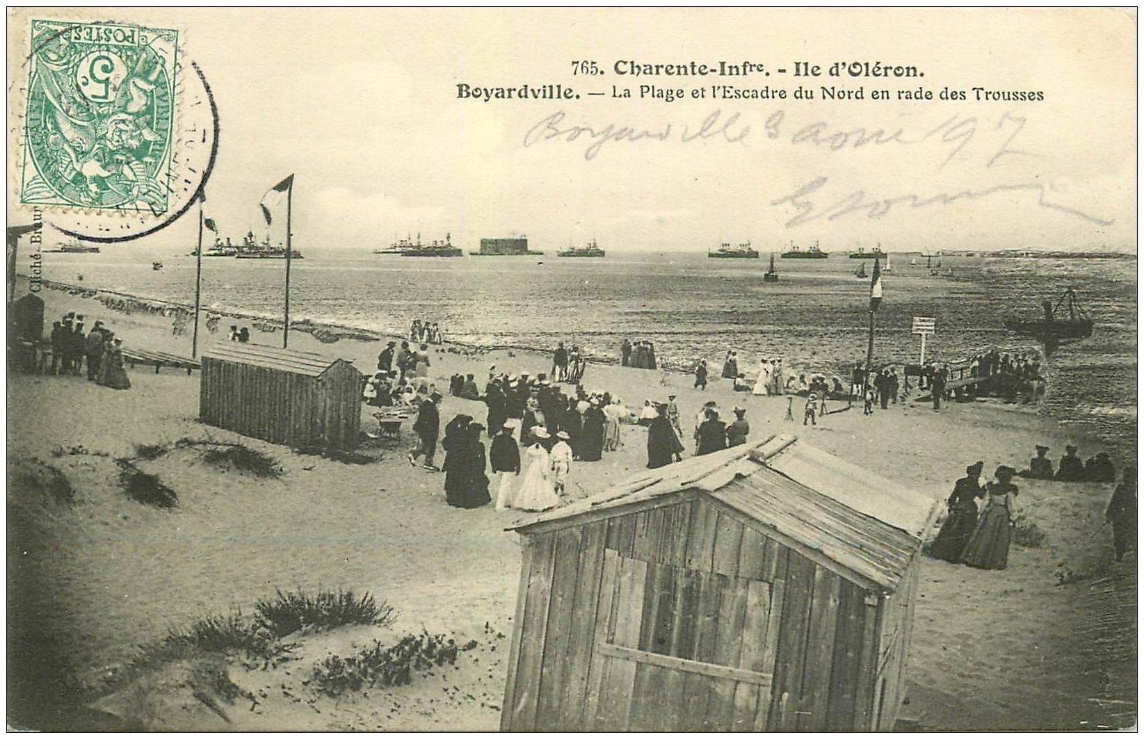 17 boyardville ile d 39 ol ron 1907 plage et escadre du. Black Bedroom Furniture Sets. Home Design Ideas