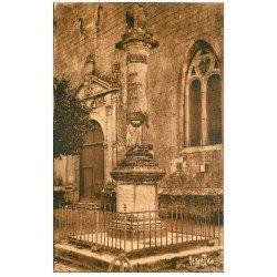 carte postale ancienne 17 BROUAGE. Colonne Champlain fondateur de Québec. Aunis et Saintonge. Editions Bergevin