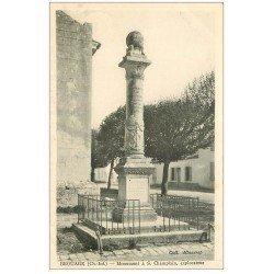 carte postale ancienne 17 BROUAGE. Monument Champlain Explorateue au Québec. Aunis et Saintonge.