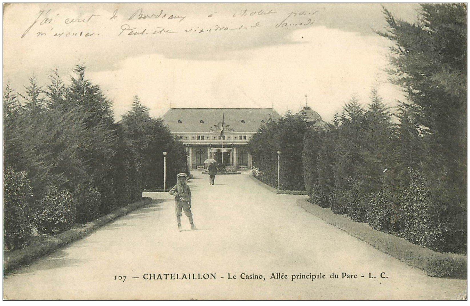 carte postale ancienne 17 CHATELAILLON. Allée du Casino vers 1907