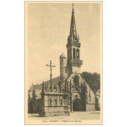 carte postale ancienne 01 Confort. Eglise et Calvaire