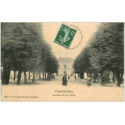 carte postale ancienne 17 CHATELAILLON. Avenue de la Gare 1908