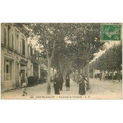 carte postale ancienne 17 CHATELAILLON. Boulevard de Cronstadt. Coiffeur Parisier 1916