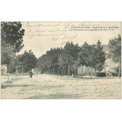 carte postale ancienne 17 CHATELAILLON. Boulevard de la République 1904