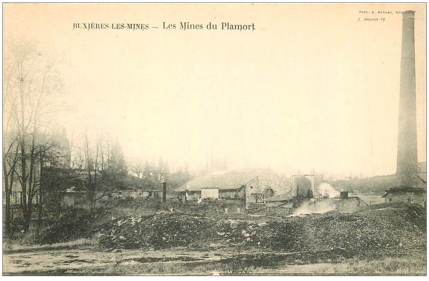 carte postale ancienne 03 BUXIERES-LES-MINES. Mines du Plamort