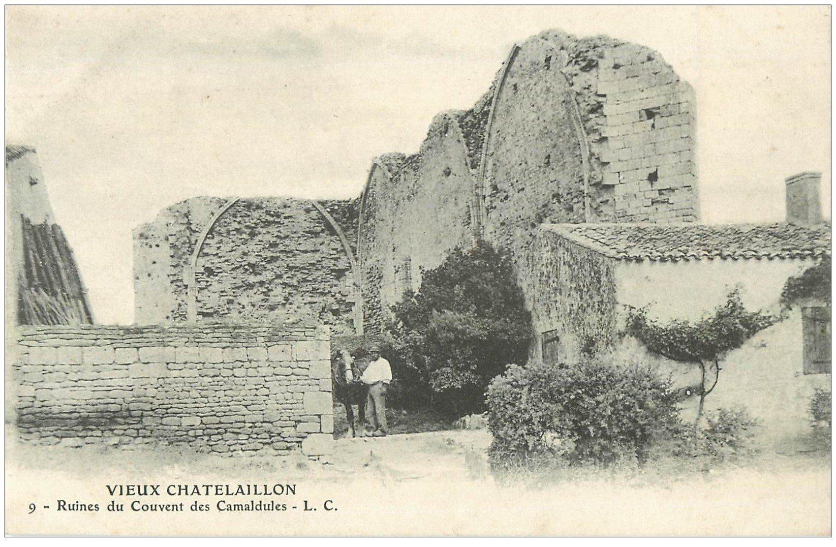 carte postale ancienne 17 CHATELAILLON. Couvent des Camaldules vers 1900