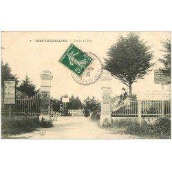 carte postale ancienne 17 CHATELAILLON. Entrée du Parc 1908.