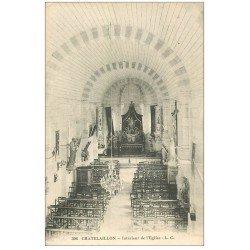carte postale ancienne 17 CHATELAILLON. Intérieur de l'Eglise