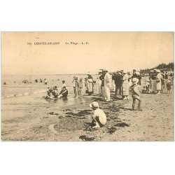 carte postale ancienne 17 CHATELAILLON. La Plage