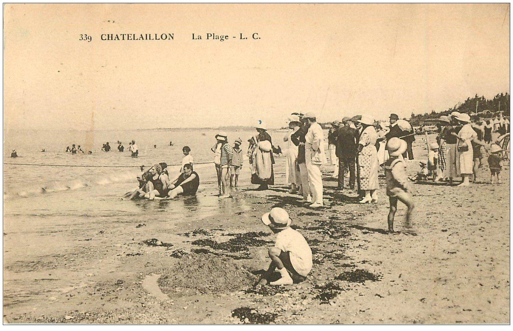 carte postale ancienne 17 CHATELAILLON. La Plage