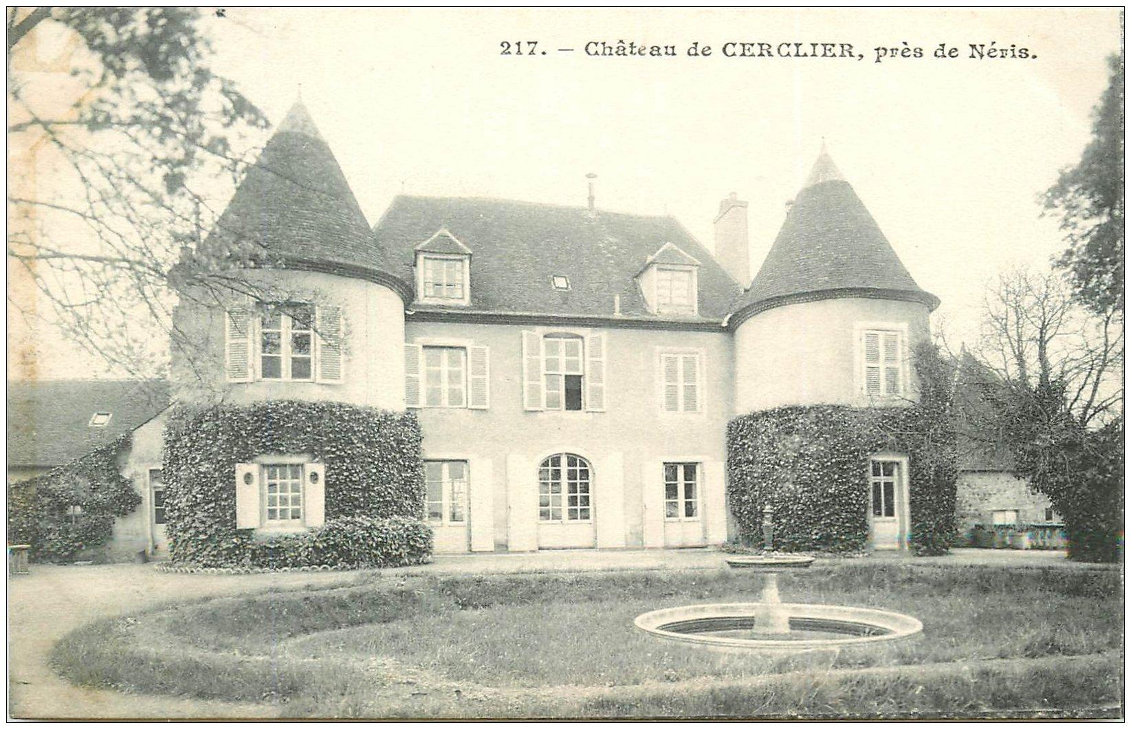 carte postale ancienne 03 CERCLIER. Le Château