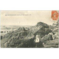 carte postale ancienne 17 CHATELAILLON. Le Rocher des Anglais 1916