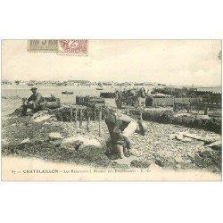carte postale ancienne 17 CHATELAILLON. Les Réservoirs à Moules des Boucheleurs 1904. Métiers de la Mer