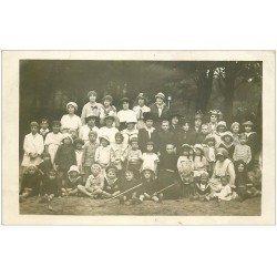 carte postale ancienne 17 CHATELAILLON. Rare Carte Photo de groupe 15 septembre 1916