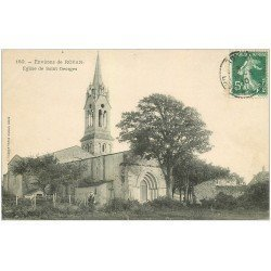 carte postale ancienne 17 Environs de Royan. Eglise de Saint-Georges 1910 animation