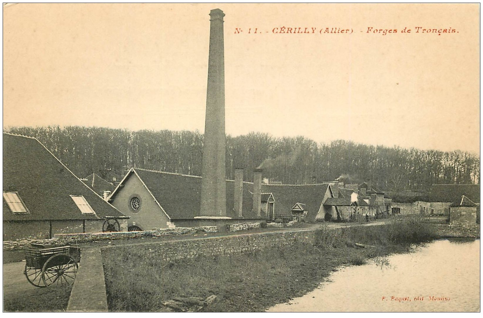 carte postale ancienne 03 CERILLY. Forges de Tronçais