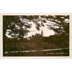 carte postale ancienne 17 FOURAS. Vue sur l'Eglise. Carte Photo émaillographie