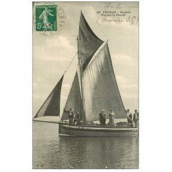 carte postale ancienne 17 FOURAS-LES-BAINS. Frégate Dundée Warenh-In-Bitechi 1913