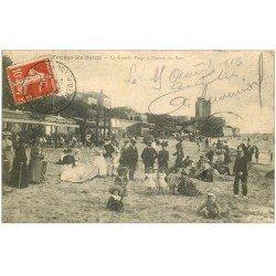 carte postale ancienne 17 FOURAS-LES-BAINS. La Grande Plage 1913