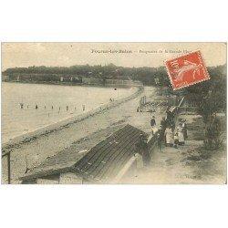 carte postale ancienne 17 FOURAS-LES-BAINS. La Grande Plage vers 1910