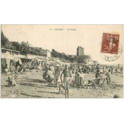 carte postale ancienne 17 FOURAS-LES-BAINS. La Plage 1930